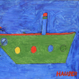 Schiff (Nachlass 371), 1967 Öl auf Karton Maße: 30 x 42 cm