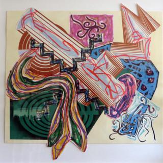 Had Gadya, 1985 Acryl/Vinyl Farbe und verschiedene Printmedien auf collagierten Papier Maße: 137,1 x 130,8 cm (54 x 51 1/2 Inch) Frontal mit Bleistift signiert, datiert und nummeriert CTP VI Jeder dieser 8 Farbprobedrucke ist ein Unikat.