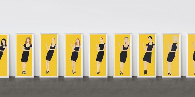 Black Dress (Serie 1-9), 2015 Farbsiebdruck auf Papier Maße: 203,2 x 76,2 cm (80 x 30 Inch) Edition: 35 Stück Signiert und nummeriert