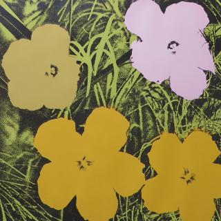 Flowers FS II.65, 1970 Farbsiebdruck auf Papier Maße: 91,4 x 91,4 cm (36 x 36 Inch) Edition: 250 Stück Rückseitig mit Kugelschreiber signiert und datiert und mit Stempel nummeriert Gedruckt von Aetna Silk Screen Products, Inc. NY Verlag: Factory Addition NY