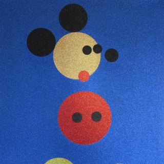 Mickey (Blue Glitter), 2016 Farbsiebdruck mit Glitzer auf gewebtem Papier / Screenprint in colors with glitter on woven paper Maße: 87,5 X 70,0 cm (34 x 27 1/1 Inch) Edition: 100 Stück (sowie 10 AP) Rückseitig mit Bleistift signiert und nummeriert sowie gestempelt mit dem Künstlerstempel Verlag: Other Criteria Ltd. London