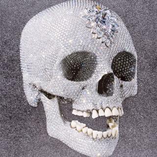 For the Love of God, Laugh, 2007 Siebdruck mit Glasuren und Diamantstaub auf Kartonpapier Maße: 100 x 75 cm (39,4 x 29,5 Inch) Edition: 250 Stück Vorne Signiert sowie nummeriert und datiert