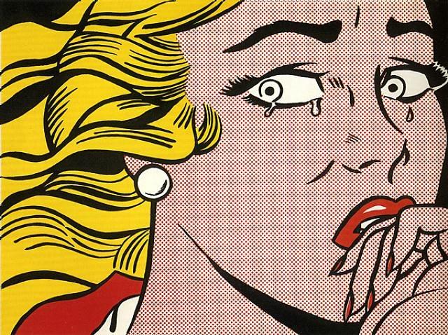 Crying Girl, WVZ Corlett C.II.1, 1963 Offset Farblithografie auf lightweight white Papier Maße: 43,8 x 58,7 cm (Blattgröße: 46 x 61 cm) (16 x 24 Inch) Frontal mit Bleistift signiert Verlag: Leo Castelli GALLERY NY