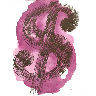 Dollar Sign 1981 Synthetic polymer paint and silkscreen ink on canvas 50.8 x 40.6 cm 20 x 16 inches Authenticated, stamped on the back and numbered.