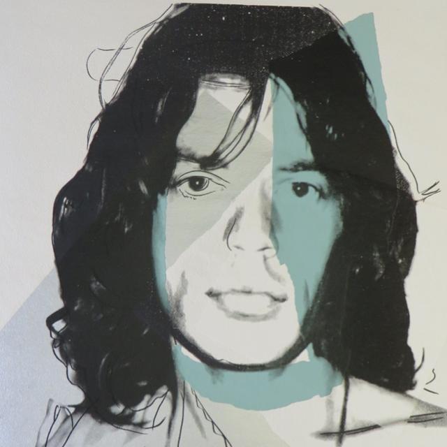 Mick Jagger, FS II.138, 1975 Siebdruck auf Arches Aquarell-Papier Maße: 110,5 x 73,7 cm Edition 57/250, Portfolio 10, nummeriert und datiert Frontal signiert rechts unten von Andy Warhol sowie links von Mick Jagger Rückseite: Stempel der Seabird Editions London