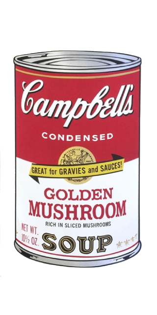 Golden Mushroom (from Campbell's Soup II), 1969 Maße: 88,9 x 58,42 cm (35 х 23 Inch)
