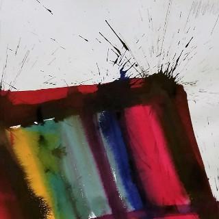 Umbria, 1991 Tusche auf Papier Maße: 70 x 50 cm