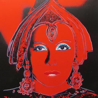The Star (aus der Myths Serie), F. & S. II.258, 1981 Farbsiebdruck mit Diamantstaub auf Lenox Museum Board Maße: 96,2 x 96,2 cm (37 7/8 x 38 Inch) Edition: 200 Stück (30 AP, 5 PP, 5 EP) Rückseitig mit Bleistift signiert und nummeriert Verlag: Ronald Feldman Fine Arts INC. NY Rückseitig vom Verleger mit dem Andy Warhol Copyright Stempel versehen