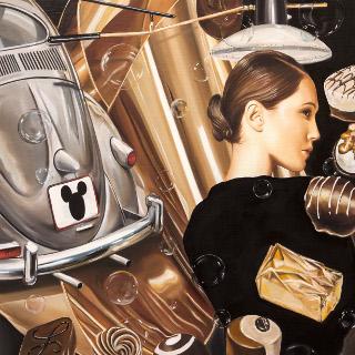 shape of things to come 2015 Öl auf Leinwand 120x100cm