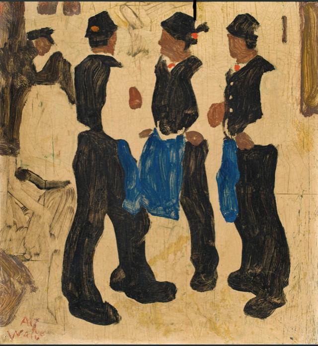 Alfons Walde Öl und tempera auf Karton/ oil and tempera on carton 29 x 26,5cm